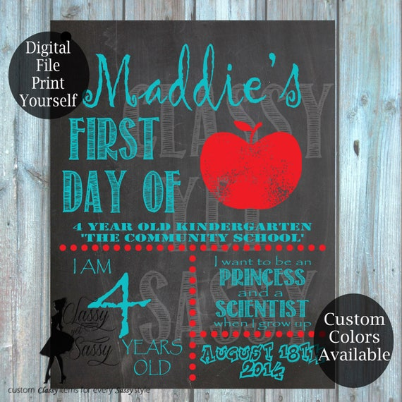 First Day Of School Chalkboard Sign 183