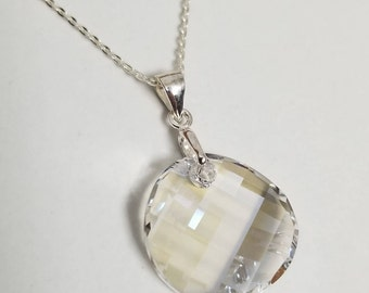 """925 Sterling Silver 18"""" Necklace with Swarovski® Crystal Twist in Moonlight  #2152"""
