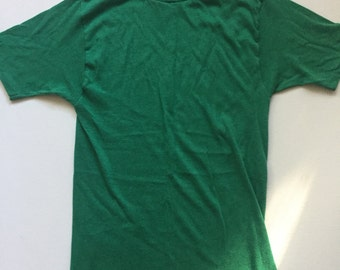 70's Jockey t-shirt vintage green t shirt x-small , small fun-tops
