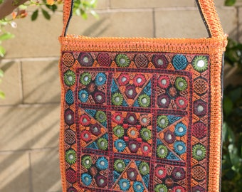 Handmade Sindhi Colorful Purse With Mirrors and Tassels