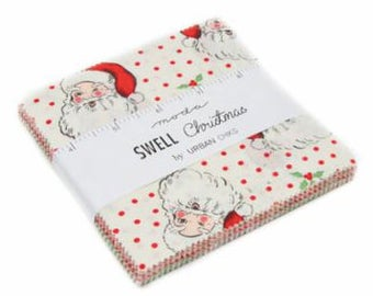 Swell Christmas Charm Pack by Urban Chiks for Moda Fabrics