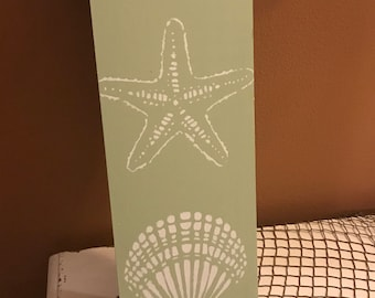 Starfish/Oyster Welcome Sign