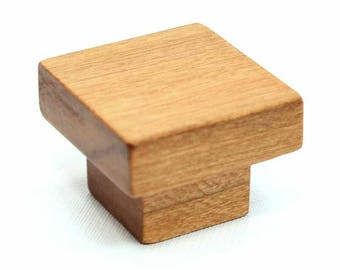 Cherry Wood Cabinet Hardware, Craftsman Knob, Vintage Cabinet Hardware, Craftsman Style Furniture Knob, Furniture Hardware