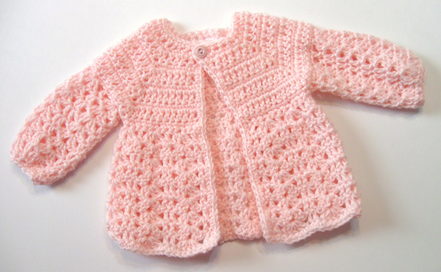 Crochet pattern baby sweater perfect for girls omas zoom bankloansurffo Choice Image