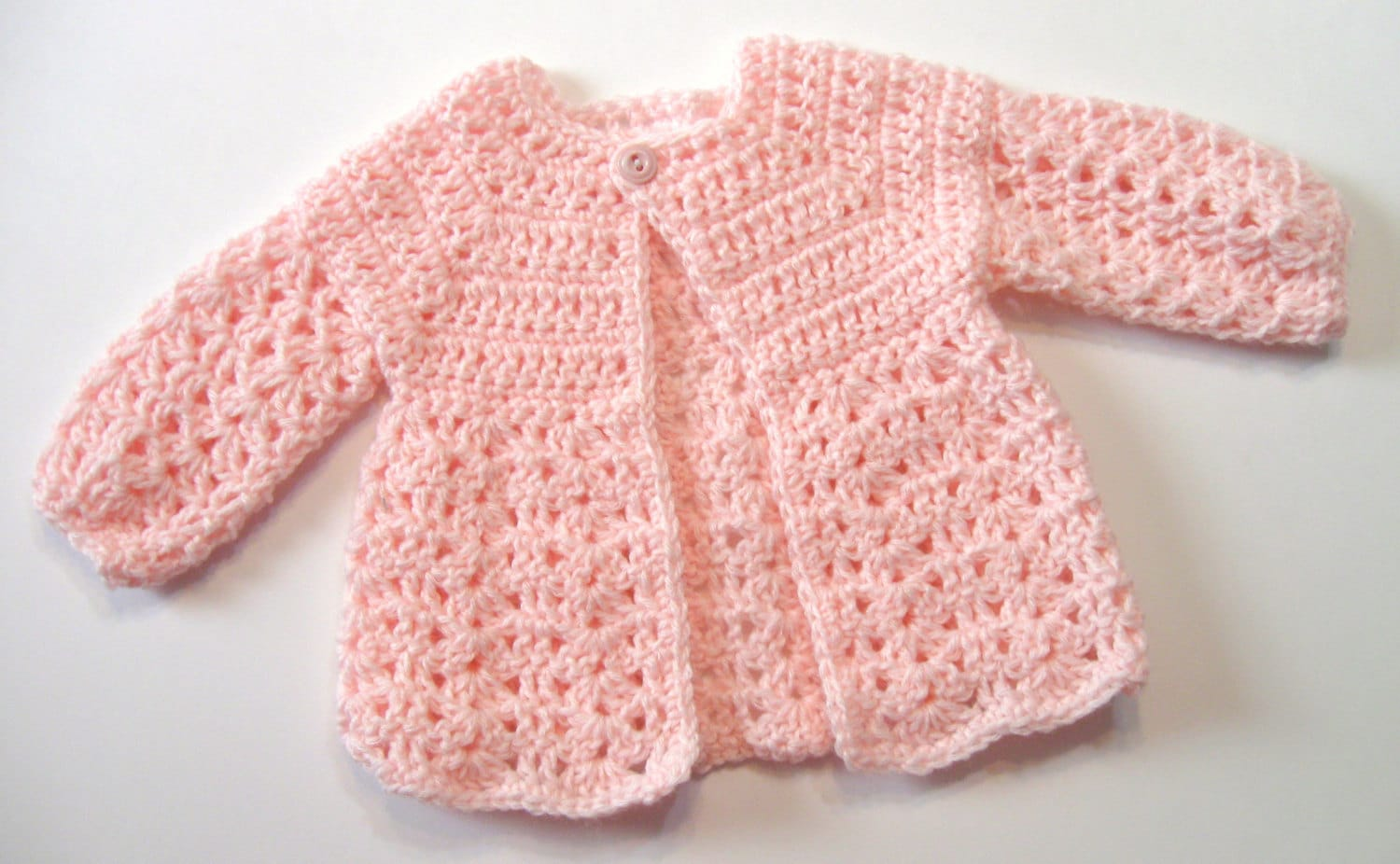 Crochet Pattern, Baby Sweater, Perfect for Girls, Oma\'s Sweater ...