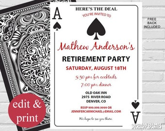 Casino invite Etsy