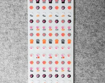 Cute small stickers - cat's paws | Cute Stationery