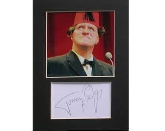 Tommy Cooper printed signed autograph 8x6 inch mounted photo print display