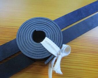 "3.5mm. / 9 oz Dark Blue Natural Geniune Leather Belt Blank Strip Strap Band. 51-55"" or 130-140cm. Various width"