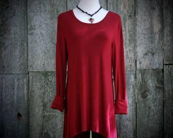 RUBY TUNIC , red tunic