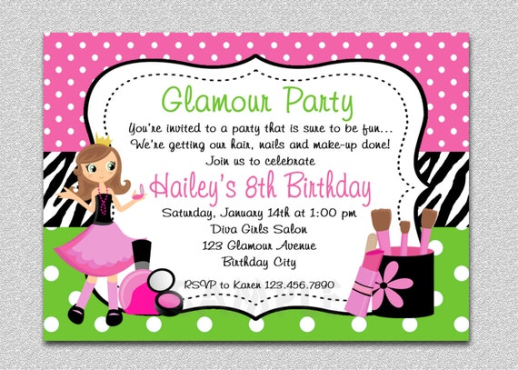 girls birthday party invitations koni polycode co