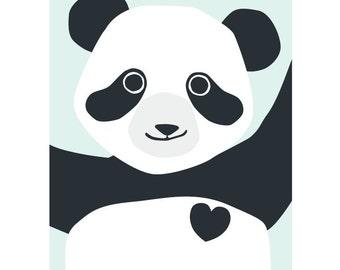 Panda postcard - Eco friendly