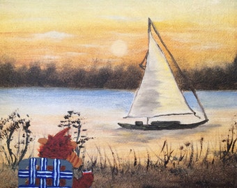 Lakeside Alf print - ALFfirmation of a thrift store painting