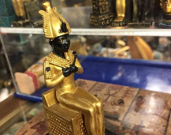 Amazing Unique Egyptian God Osirs  Statue