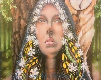 A4 Goddess Blodeuwedd Print