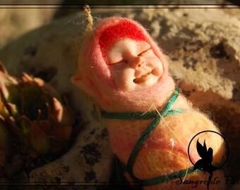 Bebe hada, Hada de la vida, hada mágica, representación en arcilla polimérica.
