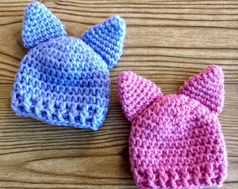 NICU Micro Preemie Hat, sizes for 1 to 2 lb,  2 to 3 lb, and 3 to 4 lb, hospital beanie tiny cute