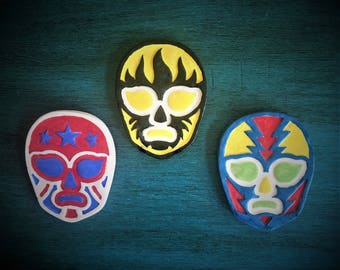 Ceramic Lucha Libre Magnets