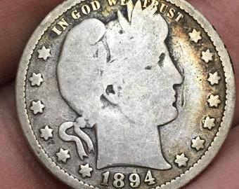 1894 Barber Quarter, Liberty Head Quarter M366
