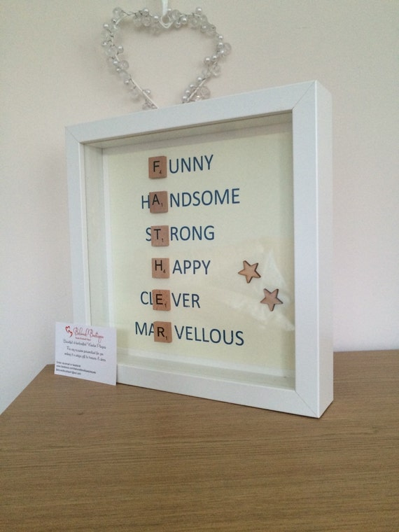 Father\'s Day scrabble frame
