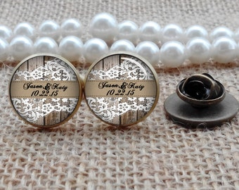 Lace Cufflinks, Custom Any Text, Photo, Personalized Cufflinks, Custom Wedding Cufflinks, Groom Cufflinks, Wedding Jewelry, Wedding Gifts