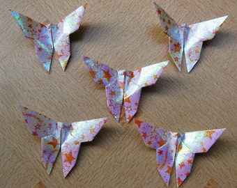 100 Paper Origami Butterflies, 5 x 5 inches (12.5 x 12.5 cm) only for 10.00 USD