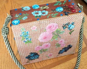Cigar Box Purse - Flora & Fauna