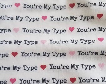 Your my type book sleeve