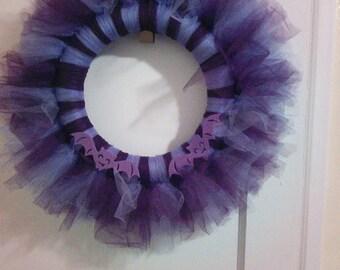 Purple Halloween Wreath