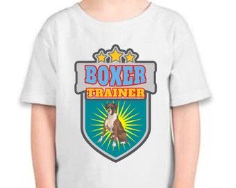 BOXER  Dog Trainer  Toddler T-shirt  Dog T-shirt  Toddler Boy  Toddler Girl Shirt, Toddler Gift