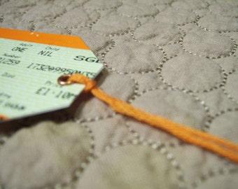 CLEARANCE SALE British railway ticket gift tag set