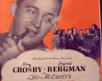 1945 The Bells of St Mary's Bing Crosby Music Book