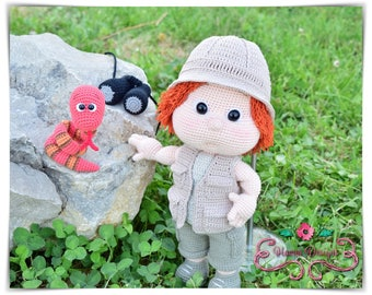 Crochet Pattern - Tommy with Safari Clothes (Amigurumi Doll Pattern)