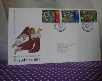 1971 christmas stamps. First day cover. F.D.C