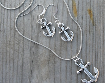 ANCHOR NECKLACE & EARRINGS