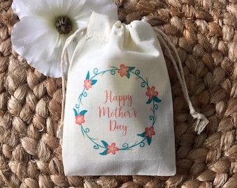 Happy Mother's Day Favor Bags / Dinner or Brunch Table Decor - Set of 10 (Item 1504A)