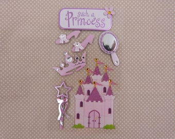 "Santa Claus ""Princess"" 3D stickers"