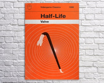 Canvas Half life, Half-life art,Gordon Freeman poster, Game wall art, Black Mesa,Olly Moss Art,Gaming Poster,Post Apocalyptic Game print