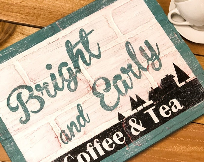 Coffee Bar Sign. Rustic coffee Sign. Antique Coffee Sign. Kitchen Wall Decor. Farmhouse Decor. Farmhouse Sign. Coffee Tea Sign. Wood SIgns