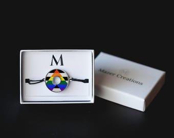 Straight Ally Pride Washer Bracelet | Resin Coated