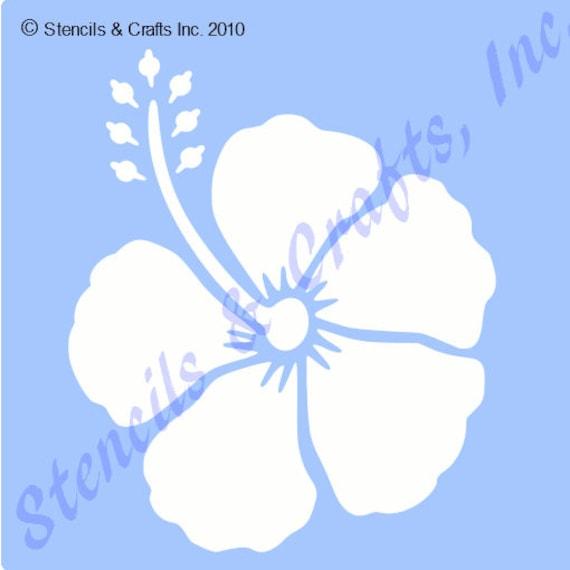 3 Hibiskus Schablone tropischen Blumen Vorlage Vorlagen
