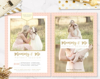 Mother's Day Mini Session, Mom and Me Mini Session Template, Maternity Mini Session, Mini Session Template - INSTANT DOWNLOAD - MS010