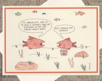 Funny Christmas Card, Santa Claus Card, Santa Card, Christmas Card, Funny Holiday Card, Holiday Greeting, Happy Holidays, Funny Xmas Card
