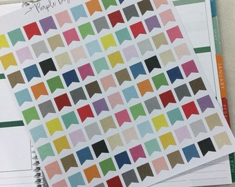 Colorful Page Flag Planner Stickers!