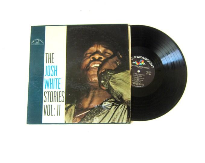 Josh White Stories Volume II 2 Vinyl Album 12 Inch LP Vintage ABC Paramount Music Record Album