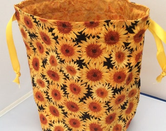 Sunflowers - drawstring projectbag
