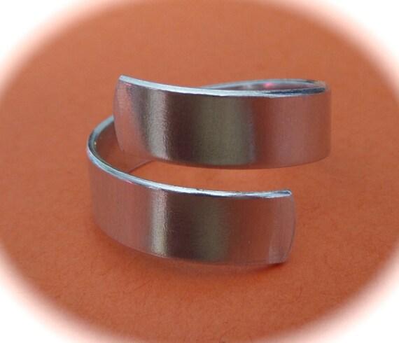 20 Wrap Blanks 16 GAUGE Ring Blanks Tumbled 1100 Food Safe Aluminum Metal Stamping Blank - Flat