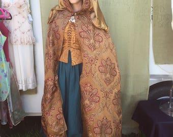 Renaissance Cloak Ren Faire Cloak Hooded Cloak Long Cape Hooded Cape  With Hood  Arwen Cosplay Cloak LARP Cloak Dress Cape Womens Cloak