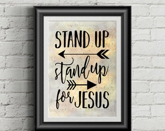 Stand Up, Stand Up For Jesus Digital Hymn Print