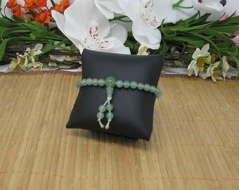Green Aventurine Wrist Mala, 27 Bead
